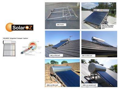 SOLAROZ INTEGRATED COMPACT SYSTEM 30 TUBES